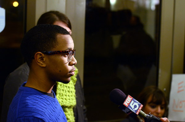 Junior Davion Z. Colbert was interviewed by local Fox news after the opening ceremony.
