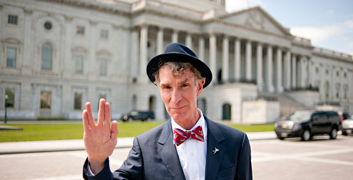 Courtesy of Flickr/navid baraty   Bow ties can spice up outfits while maintaining the wearer's  sophistication, as we see above with Bill Nye the Bow Tie Guy.