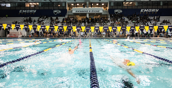 Squads kick off season with a split the emory wheel University of birmingham swimming pool