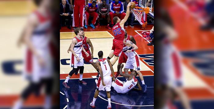 Los Angeles Clippers power forward Blake Griffin goes up for a dunk. Jacob Durst and Nathan Janick predict that Griffin and the Clippers will reach the 2015 NBA Finals. | Photo Courtesy of Wikimedia Commons