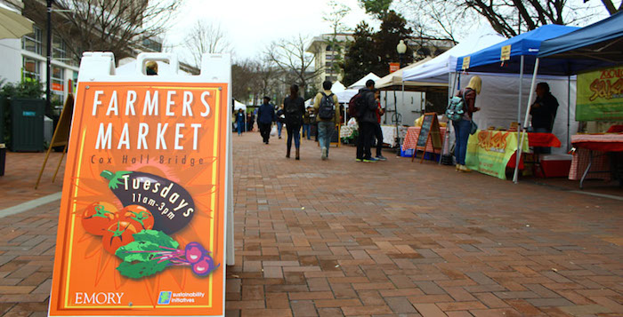 The Tuesday Farmers Market at the Cox Hall Bridge.